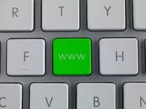 Chiave di WWW Immagine Stock