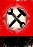 Chiave e martello Fotografia Stock Libera da Diritti