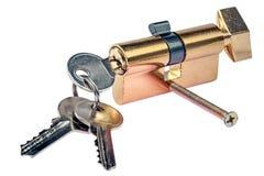 Chiave e serratura di porta immagini stock