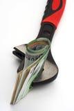 Chiave ed euro fatture Fotografia Stock Libera da Diritti