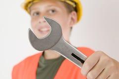 Chiave a forchetta a fuoco Fotografia Stock