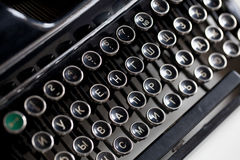 Chiave invecchiata della macchina da scrivere Immagini Stock Libere da Diritti