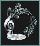 Chiave musicale. Fotografia Stock
