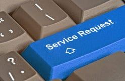 Chiave per la richiesta di servizio immagini stock