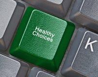 Chiave per le scelte sane Immagine Stock