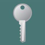 Chiave, porta, icona, illustrazione Fotografia Stock Libera da Diritti