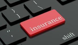 Chiave rovente di assicurazione sulla tastiera Fotografia Stock