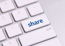 Chiave sociale di media Immagini Stock