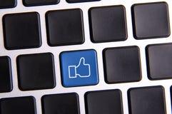 Chiave sociale di media Fotografia Stock
