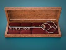 Chiave a successo Immagini Stock
