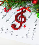 Chiave tripla di Natale Fotografia Stock Libera da Diritti
