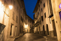 Chiavenna Sondrio, Italy by night Stock Image
