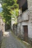 Chiavenna & x28; Sondrio Italy& x29; arkivbilder