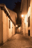 Chiavenna & x28;Sondrio, Italy& x29; by night Stock Images