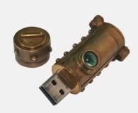 Chiavetta USB di Steampunk Fotografia Stock