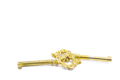 chiavi antiche dorate preziose Fotografia Stock