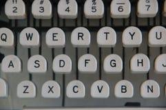 Chiavi classiche della macchina da scrivere Fotografia Stock Libera da Diritti