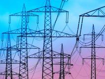 Chiavi correnti di una linea elettrica Immagini Stock Libere da Diritti