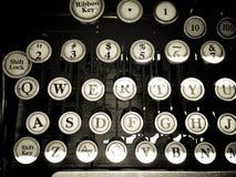 Chiavi d'annata della macchina da scrivere Fotografia Stock