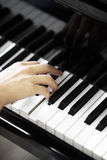 Chiavi del piano Fotografie Stock