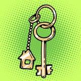 Chiavi della casa di Keychain Fotografia Stock