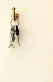 Chiavi della torre Eiffel e l'altra chiave Fotografie Stock
