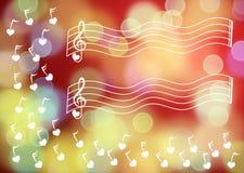 Chiavi di musica che fanno galleggiare fondo vago royalty illustrazione gratis