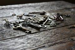 Chiavi di scheletro antiche della Camera Fotografie Stock Libere da Diritti