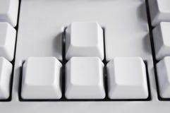 Chiavi di tastiera del computer, in bianco Fotografie Stock