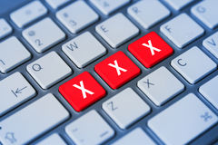 Chiavi di tastiera Xxx Fotografie Stock