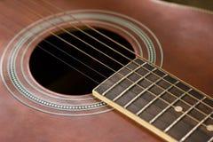 Chiavi di tornitura della chitarra del primo piano Immagine Stock Libera da Diritti