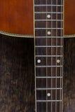 Chiavi di tornitura della chitarra del primo piano Fotografia Stock