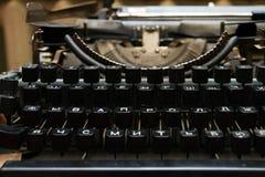 Chiavi nere della macchina da scrivere fotografia stock