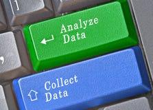 chiavi per la raccolta e l'analisi dei dati Fotografia Stock Libera da Diritti