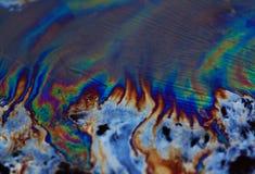 Chiazza di petrolio di olio Immagine Stock