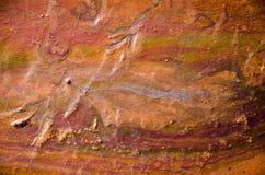 Chiazza di petrolio di olio dell'arcobaleno Fotografia Stock Libera da Diritti