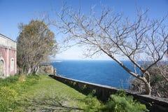 从Chiazzette的海洋全景 免版税库存照片