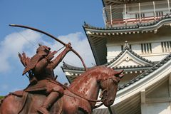 Chiba Castle Samurai Statue Royalty Free Stock Photos