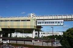 Chiba City Monorail Train Stock Image