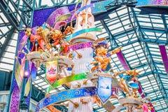 CHIBA, JAPÃO: Decoração em Main Street U S A para comemorar o evento da 35a celebração a mais feliz no Tóquio Disneyland Resort fotografia de stock