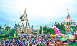 CHIBA, JAPAN: Crowds seeing daytime parade in front of Cinderella Castle at Tokyo Disneyland Stock Photos
