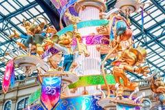 CHIBA, JAPAN: Decoratie bij Main Street -U S A om de gebeurtenis van 35ste Gelukkigste Viering in Tokyo Disneyland Resort te vier Stock Afbeeldingen