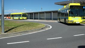 Narita international airport third terminal bus stops. Chiba,Japan - June 16, 2019: Narita international airport third terminal bus stops stock video