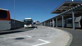 Narita international airport third terminal bus stops. Chiba,Japan - June 16, 2019: Narita international airport third terminal bus stopsn stock video footage