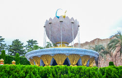 CHIBA, JAPAN - MAG, 2016: Het Arabische die gebied van de Kustaantrekkelijkheid in Tokyo Disneysea in Urayasu, Chiba, Japan wordt stock foto