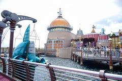 CHIBA, JAPAN - MAG, 2016: Het gebied van de havenontdekking in Tokyo Disneysea in Urayasu, Chiba, Japan wordt gevestigd dat Stock Afbeelding