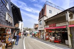 Naritasan Omotesando road has a shop. The famous restaurant and destination is to pay homage to Naritasan Shinshoji temple. Stock Image