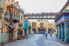CHIBA JAPAN -, MAY 2016: Arabiskt kustdragningsområde i Tokyo Disneysea som lokaliseras i Urayasu, Chiba, Japan arkivbilder