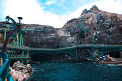 CHIBA, JAPAN: Mysterious Island attraction in Tokyo Disneysea located in Urayasu, Chiba, Japan. Mysterious Island attraction in Tokyo Disneysea located in royalty free stock photos