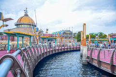CHIBA, JAPAN: Port Discovery area in Tokyo Disneysea located in Urayasu, Chiba, Japan. Port Discovery area in Tokyo Disneysea located in Urayasu, Chiba, Japan Royalty Free Stock Images